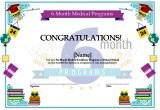 6 Month Medical Certificate Programs Template