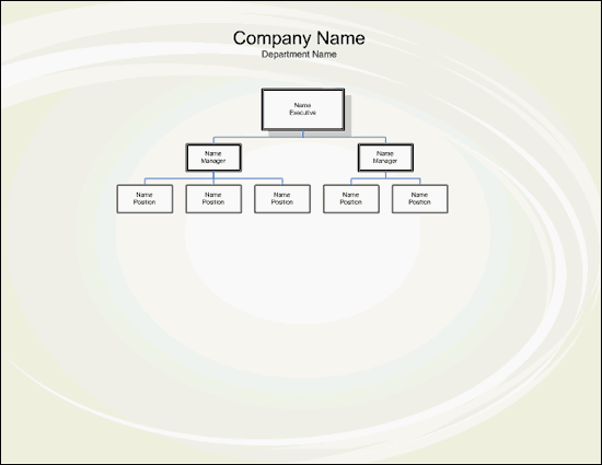 Single-page organization chart (metric) free download