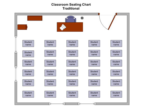 Simple Classroom Seating Chart (us Units)