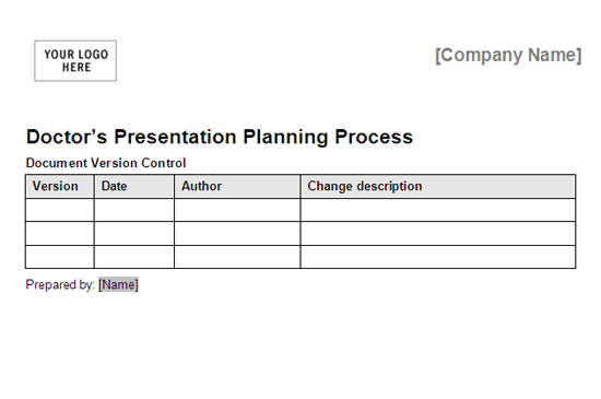Doctors Presentation Planning Process Framework free download