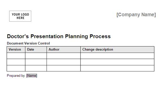 Doctors Presentation Planning Process Framework free download