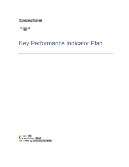 Key Performance Indicator Plan