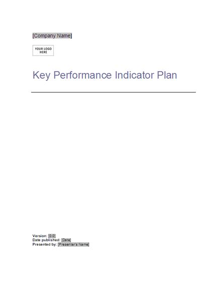 Key Performance Indicator Plan free download