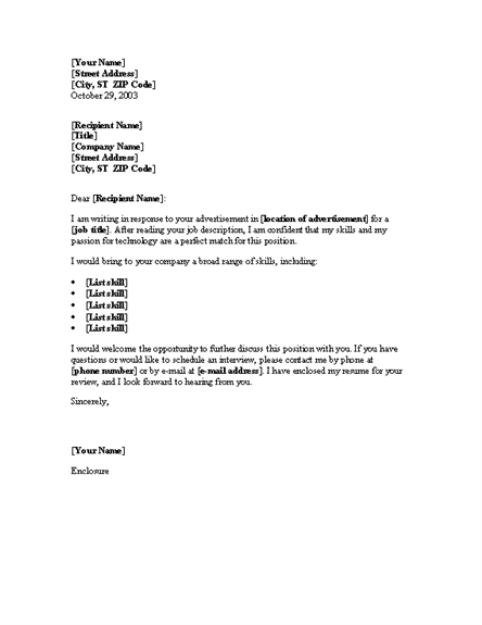 Fax cover letter template for word 2003