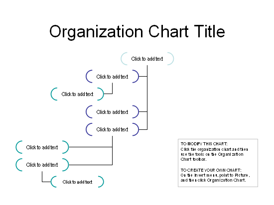 Left-hanging organization chart free download