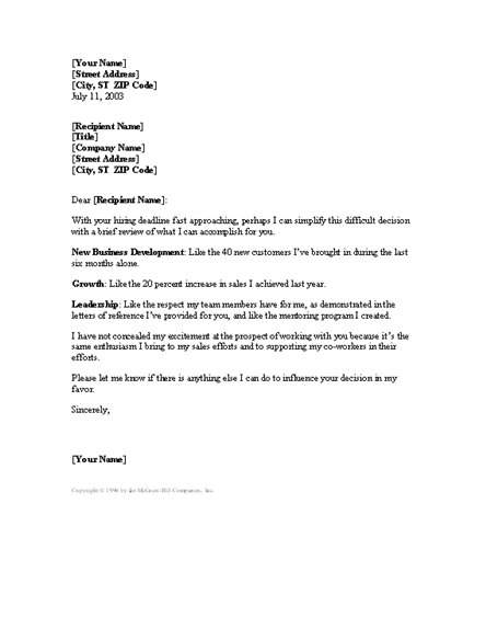 Sales manager cover letter free download
