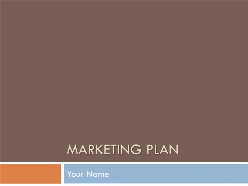 Marketing plan free download