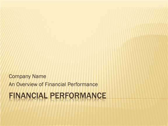 Financial Performance Presentation