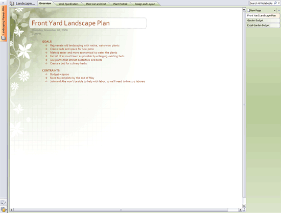 Landscape planner notebook free download