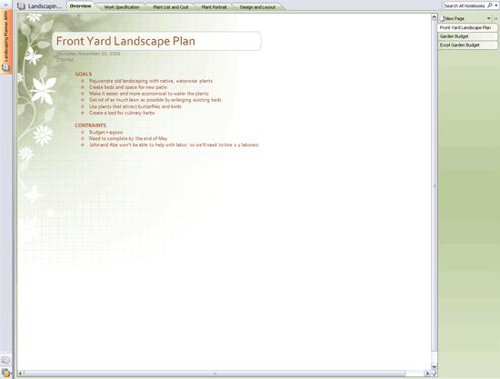 Landscape Planner Notebook