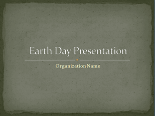 Earth Day presentation free download