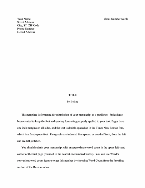 Story manuscript free download