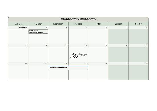 Multi-week Planner (metric)