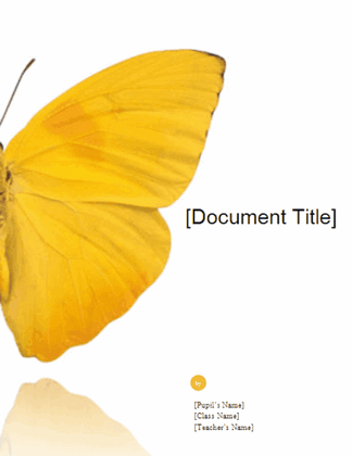 School report (Butterfly design) free download