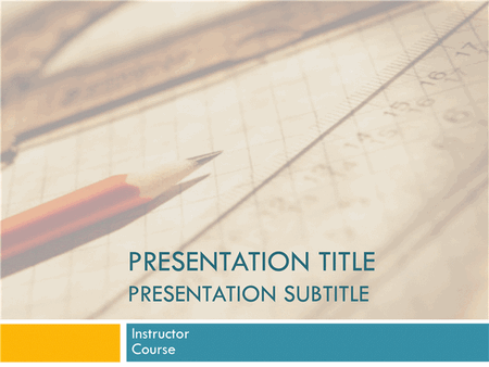 Academic presentation for college course (paper and pencil design) free download
