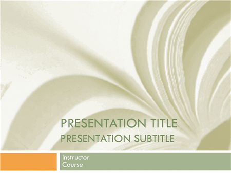 Academic Presentation for College Course in Textbook Design free download