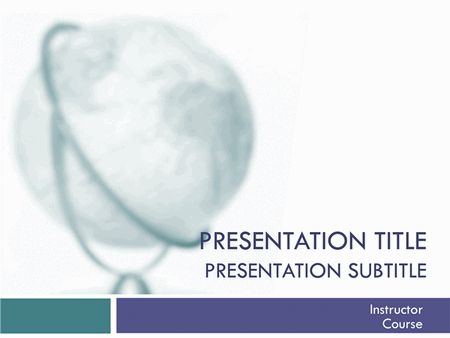 Academic presentation for college course (globe design) free download