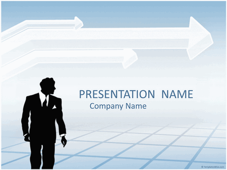 Businessman silhouette presentation free download