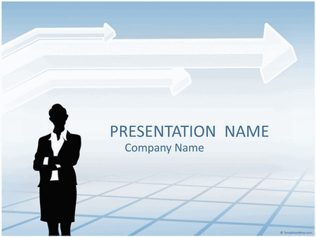 Businesswoman silhouette presentation free download