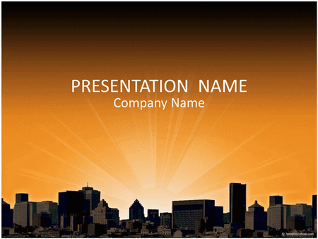 City landscape business presentation free download
