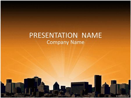 City landscape business presentation free download