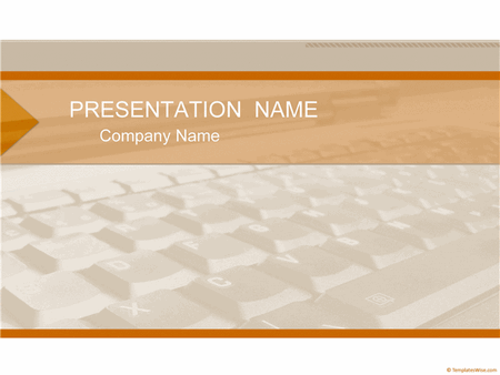 Laptop Keyboard Business Presentation