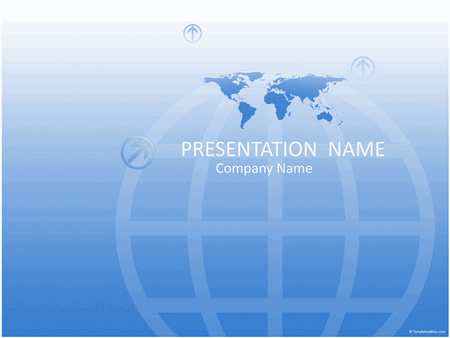 Worldwide business presentation (blue) free download
