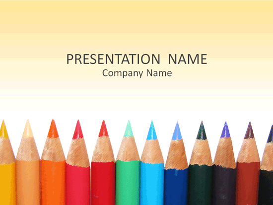 Color Pencils Academic Presentation