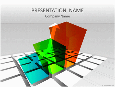 3-d Rising Chart Business Presentation