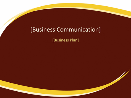 Business plan presentation (Burgundy Wave design) free download