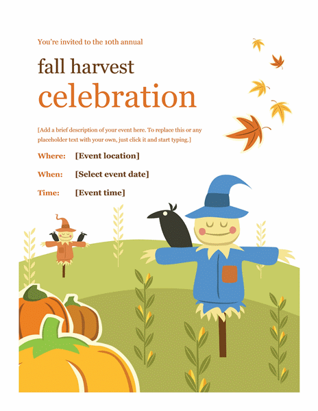Fall Season Poster Template free download