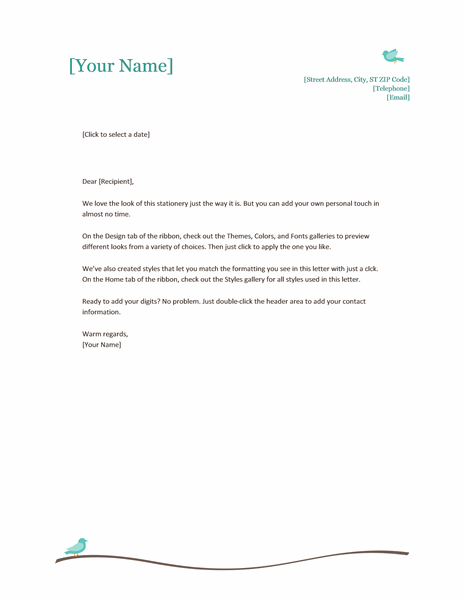 Personal Letterhead Template Word free download