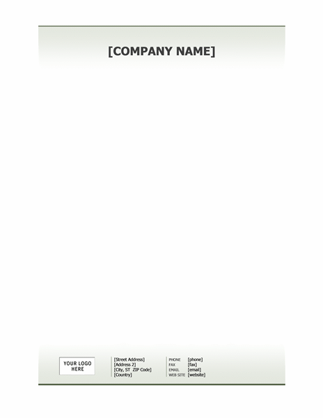 Business Stationery Company Letterhead Template