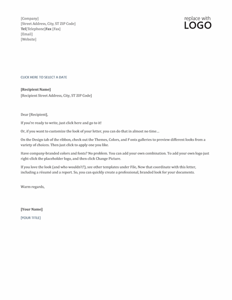 Timeless Letterhead Template Word