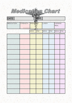 daily medication chart template