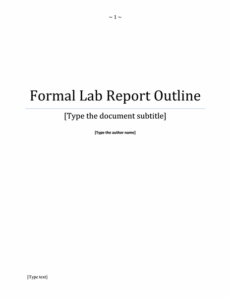 Report Title Page Template