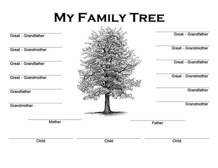 chart templates elegant family tree close back to template details