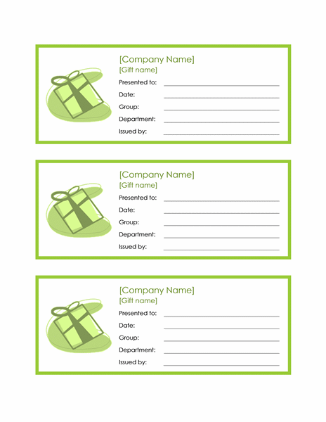 3 Employee Gift Certificates free download