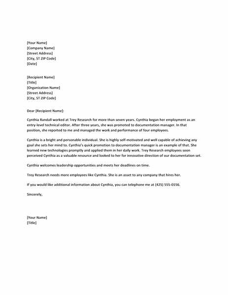 Doc495640 Sample Employee Reference Letter Format Free Letter – Sample Employee Reference Letter Format