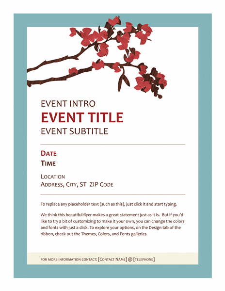 Flower Spring Flyer Poster Template