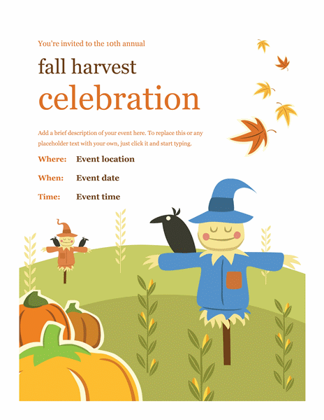 Fall Flyer Wanted Poster Template