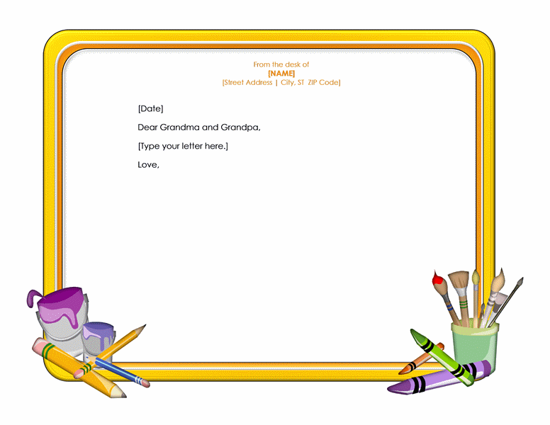 Letterhead Template Word For Children
