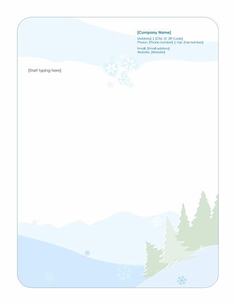 Stationery Letterhead Template Word