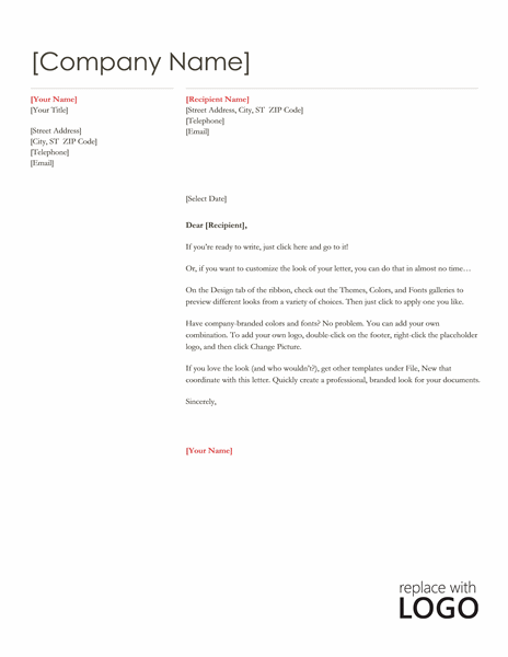 Red Design Letterhead Template Word