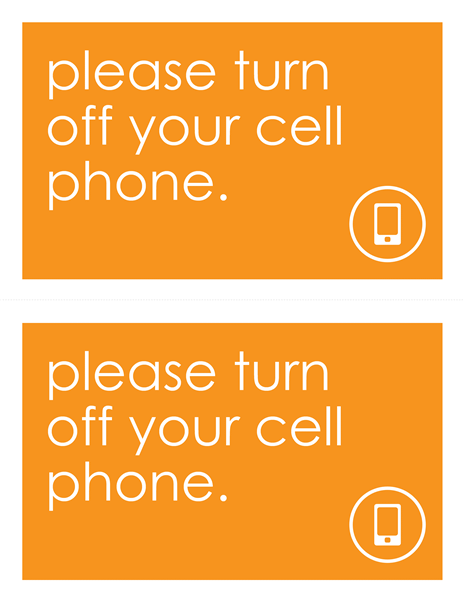 Anti Cell Phone Sign Wanted Poster Template