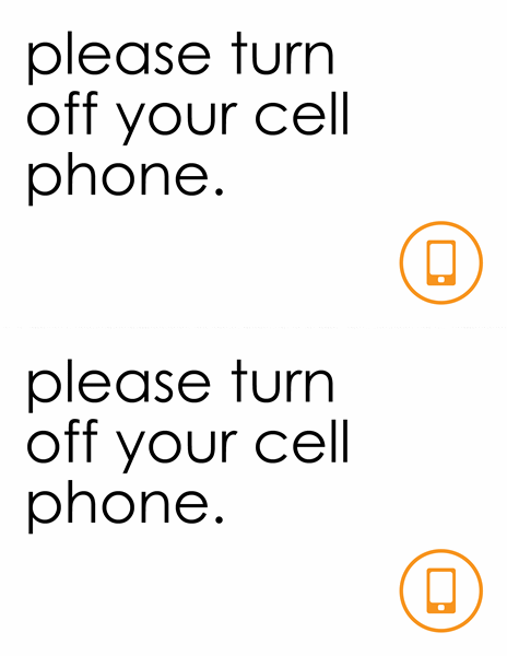 Turn Off Cell Phones Sign Poster Template