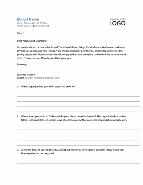 Student Profile Letter Request Form Template Microsoft Word free download