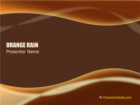 Orange rain presentation powerpoint templates orange rain presentation templates free download toneelgroepblik Gallery