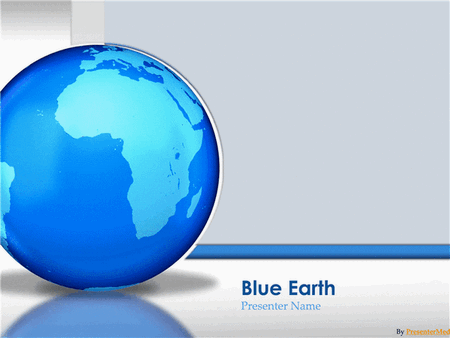 Glassy Blue Earth presentation free download