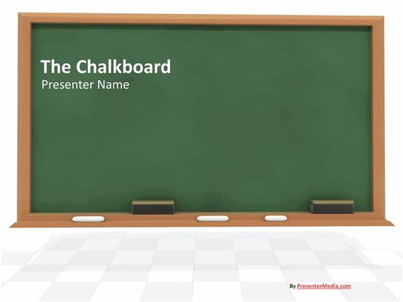 Chalkboard presentation free download